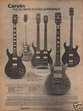 CARVIN GUITAR PINUP AD vtg 80's electric double neck