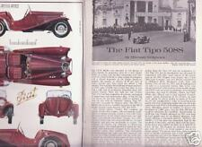 FIAT Tipo 508S, well illustrated booklet Profile #23