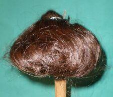 """Peluca de muñeca/cabello humano 11"""" a 12"""" marrón oscuro, trenza de uno"""