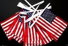 10 METRE 28 FLAGS USA AMERICAN FLAG FABRIC BUNTING 4TH JULY INDEPENDENCE DAY