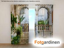 """Fotogardinen """"Veranda"""" Vorhang 3D Fotodruck, Foto-Vorhang, Maßanfertigung"""