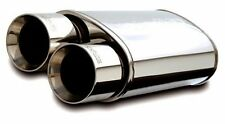 "MagnaFlow 14807 - Polished Street Muffler w/ Dual Tips - 2.25"" IN / 4"" OUT"