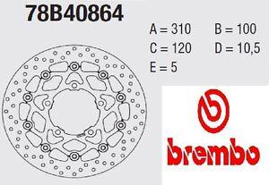 Coppia Dischi Freno BREMBO Serie Oro  Suzuki 1000 GSX-R 05 > 08