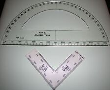 Military Circular Protractor Ruler Scale Navigation Coordinate(12 inch)SET NEW