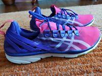 ASICS Gel Fit-Sana Hot Pink/White Grap / Crossfit Shoes women size 12 S465N3501