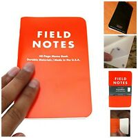 """Pack Of 3 Waterproof Field Notes Grid Page Memo Pad Notebook  3.5 X 5.5"""" 50Pages"""