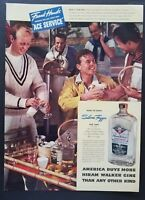 1938 Hiram Walker Gin Frank Hawks Air Ace Tennis Art Vintage Print Ad Large!