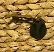 Sun Valley Bronze Teardrop Keychain, W3 Dark Grey / Black Patina Finish