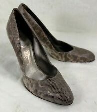 Salvatore Ferragamo Heels Round toe Shoes Size 10B Snake Leather Tan Brown