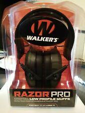 Walker's Razor Pro Digital Low Profile Muffs, Hearing Protection. Brand new