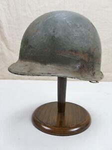 #G62 Original US Army WW2 M1 Stahlhelm Helm Glocke gebördelt + Lot number