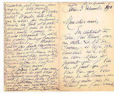 """AUGUSTE DORCHAIN A RENE VALLERY-RADOT AU SUJET DE SA """"VIE DE PASTEUR"""" / 1900"""