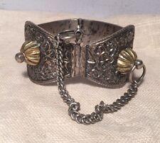 Silver Ornate Anklet Bracelet Antique Ethnic Tribal Solid Sterling