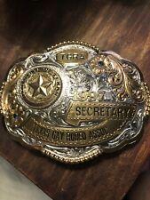 Cowboy Belt Buckle Used TGRA Texas Gay Rodeo Belt Buckle