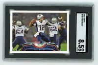 2012 Topps #100 Tom Brady SGC 8.5 Graded Football Card NM/MT GOAT Bucs