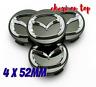 Mazda 4 x 52mm Schwarz Allufelge Nabenkappen Nabedeckel Wheel Cap