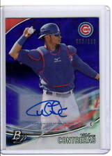 WILLSON CONTRERAS AUTO RC 2016 BOWMAN PLATINUM PURPLE /150 PARALLEL SP CUBS