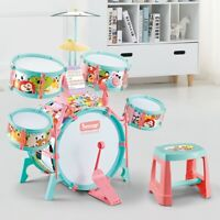 ❀Christmas Gift Drum Set With Microphone And Electronic Piano & Drum Sticks