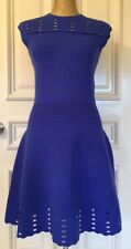 Ted Baker London Zaralie Jacquard Panel Skater Dress Size3 USA 8(Royal Blue)