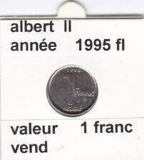 FB 2 )pieces de albert II  1 francs 1995   belgie