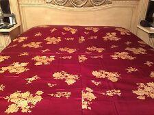 100 % Silk BurgundyGold Queen Duvet/Comforter Cover