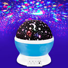 Rotating Kids Star Moon Sky Projector Night Light USB Romantic LED Starry Lamps