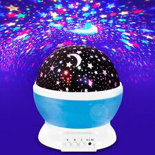 US 360 Degree Rotating Projection LED Night Light Romantic Cosmos fr Kid Bedroom