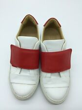 Scanlan Theodore White Leather With Red Strap Sneakers Slip On Style Size Eu 38