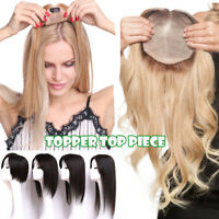 NEW Mix Color 100% Remy Human Hair Extension Clip in Topper Hairpiece Women USPS