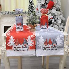 Christmas Table Runner Cover Cloth Xmas Tablecloth Decor Cotton Linen Dinner