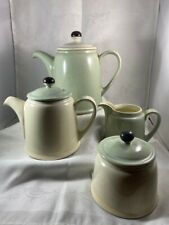 Denby Stoneware - Coffee & Tea Pot, Covered Sugar and Creamer - Energy Pattern