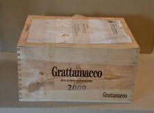 Holzkiste 6 Flaschen GRATTAMACCO 2009 Bolgheri Toskana - ungeöffnet