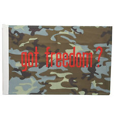 SMF Small 12 Inch X 20 Inch Replacement Flag For Whip Antenna Got Freedom Flag