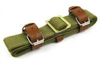 Green Canvas Sling Mosin Nagant M38 M44 91/30 Sling w/Leather Strap
