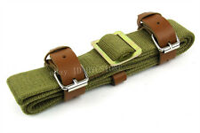 Green Canvas Sling Mosin Nagant M38 M44 91/30 Sling w/Leather Strap
