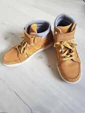 Timberland Men's Women's Suede Yellow brown Leather High top Boots Shoes size 8