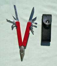 Red Plastic Handle Multi-Tool w/case