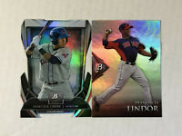FRANCISCO LINDOR LOT OF 2 2013 Bowman Platinum Cutting Edge SP RC + '14 BP SP RC