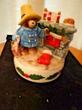 Schmid Paddington Bears Christmas Music Box Series Bear Hopes 1981