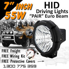 HID Xenon Driving Lights - Pair 7 Inch 55w Euro Beam 4x4 4wd Off Road 12v 24v