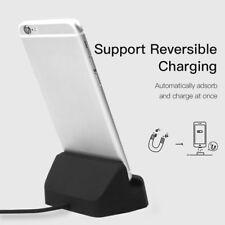 For iPhone Android Magnetic Lightning USB C Charger Charging Dock Stand Station