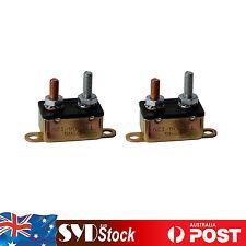 2PCS 50A 12V Car Auto Reset Circuit Breaker Caravan Winch Metal Fuse Stud Bolt