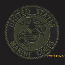 US MARINES HAT PATCH OD GREEN EGA SEAL LOGO USMC FLIGHTSUIT JACKET PIN UP VET
