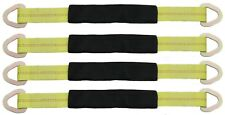"""2"""" X 24"""" Axle Tow Strap with D Ring - Car Strap Tie Down (4 Pack)"""