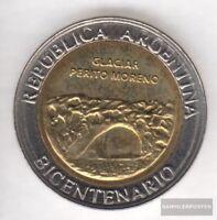 Argentinien KM-Nr. : 160 2010 Stgl./unzirkuliert Bi-Metallic Aluminium-Bronze 20