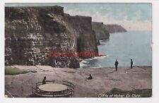 More details for cliffs of moher co clare lawrence postcard 1906 ennis cds to dublin - ir67