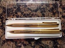 Gold VintagePen And Pencil Set From Your Michigan State Bowling Association Inc.