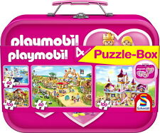 Schmidt spiele Puzzle Playmobil Metallkoffer   56498