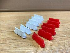 Corgi Modern Truck Heavy Haulage X12 Red and White Barriers Only 1/50