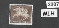 #3307  MLH stamp Sc B192 1941 Brown Ribbon Horse race Third Reich Munich Germany